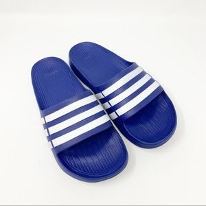 Adidas Blue Duramo Slides